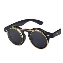 88a36dee9f Vazrobe tirón encima ronda Gafas de sol hombres vintage retro hombres gafas  Steam punk Gafas de sol-hombre pequeño Cara hombres .