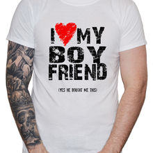 Lgbt T Shirt I Love Heart My Boyfriend Men Guy Gay Pride Valentine'S Gift Luka H