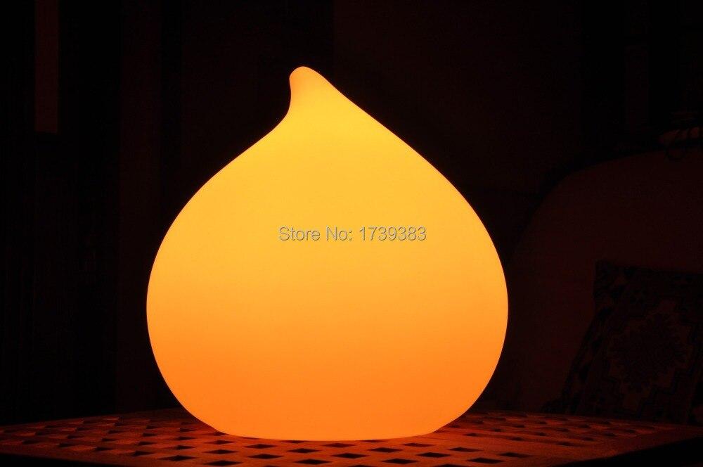 Chaude Unique forme organique Conception Rechargeable Ampoule éclairage Rosée LED ronde goutte d'eau Light Étanche coloré Intérieur Lampe Extérieure