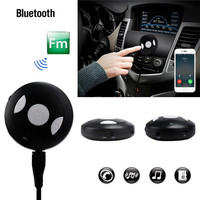 Newest Mini Car Wireless Bluetooth V4.1 Music Receiver Handsfree Car Kit With USB Cable For iphone/ipod/Smart phone/Computer