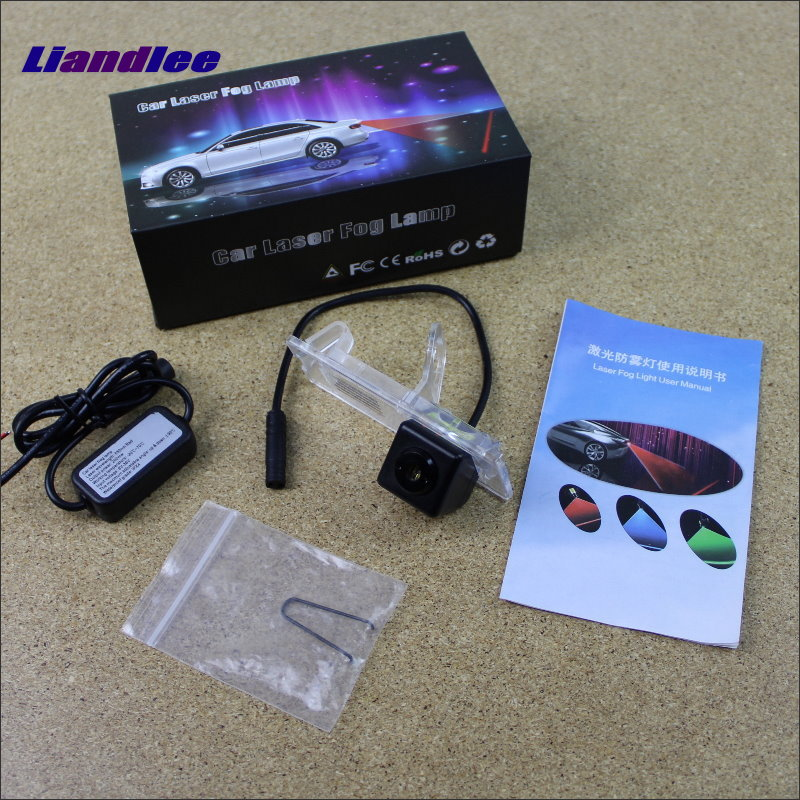 Liandlee Anti Collision Laser Fog Lamps For Renault Laguna 2 / 3 Car Rear Distance Warning Alert Line Safe Drive Lights car tracing cauda laser light for volkswagen vw jetta mk6 bora 2010 2014 special anti fog lamps rear anti collision lights