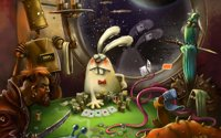 Bunny Cheats Poker Humor Animal backdrops High quality Computer print party backgrounds