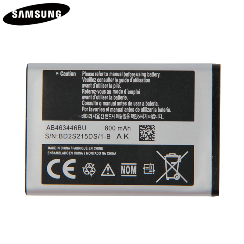 Original Battery AB043446BE AB463446BU AB553446BU For Samsung C3300K X208 X160 B309 GT-C3520 E1228 GT-E2530 E339 GT-E2330 C5212