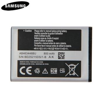 Oryginalna Bateria AB043446BE AB463446BU AB553446BU dla Samsung C3300K X208 B189 B309 GT-C3520 E1228 GT-E2530 E339 GT-E2330 C5212 tanie i dobre opinie Oryginał 0-1300mAh