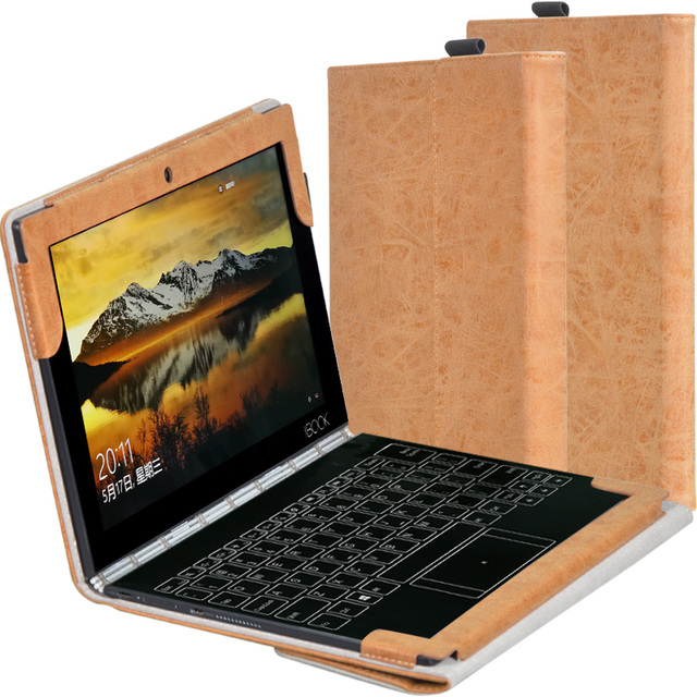 pretty nice b2a25 5b1b3 Leather Case For Lenovo Yoga Book Luxury Stand Holder Flip Cover 10.1 inch  Tablet and Keyboard Protective Shell + Stylus + Film