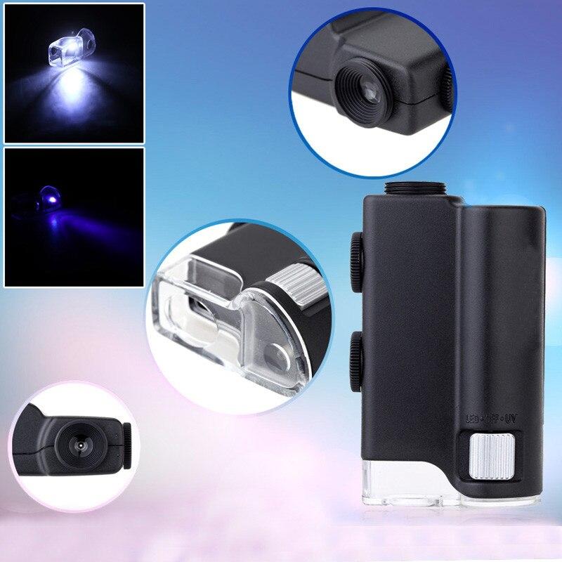New 100X Magnifying Loupe//Glass Illuminated Microscope with LED light adjustable