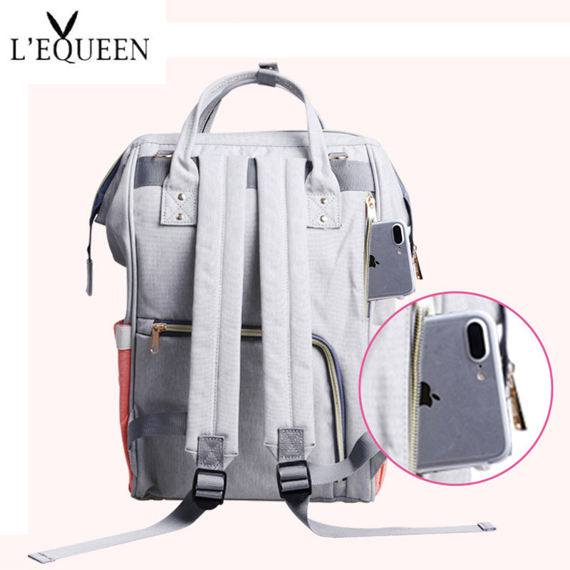 Image 4 - Fashion Mummy Maternity Nappy Bag Large Capacity Baby Bag Travel Backpack Nursing Bag for Baby Care Nappy Hand Bag-in Diaper Bags from Mother & Kids