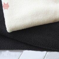 Crème wit zwart zachte fleece Lamswol stof voor winterjas vest bontkraag lam tissu tecidos steffons DIY accessorie SP4583