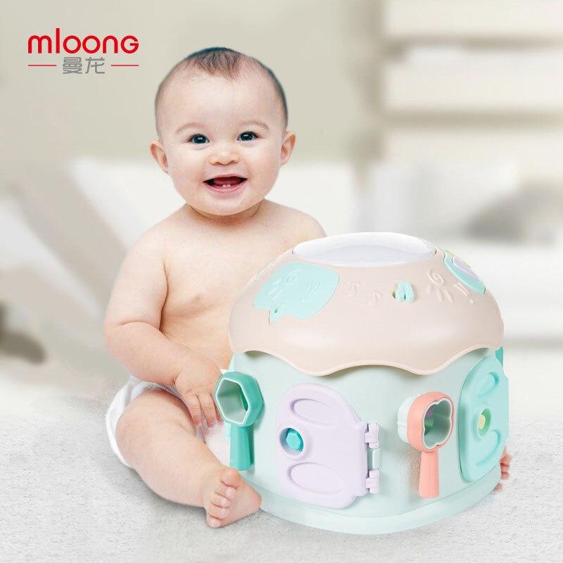 Manlong bébé Clap tambour musique Clap tambour bébé jouet éducation précoce 1 an 0-12 mois