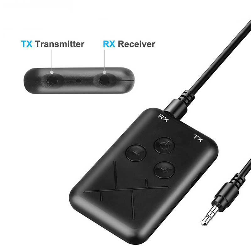 Rovtop 2 in 1 Wireless Stereo Bluetooth Transmitter Receiver 4.2 Audio 3.5mm Adapter For Smartphone PC TV Bluetooth TransmitterRovtop 2 in 1 Wireless Stereo Bluetooth Transmitter Receiver 4.2 Audio 3.5mm Adapter For Smartphone PC TV Bluetooth Transmitter