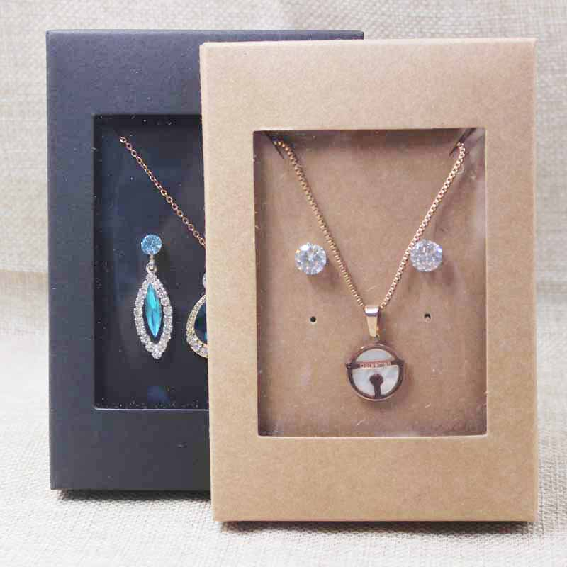 Deluxe Necklace With Earing Jewelry Set  Package& Display Box With Clear Pvc Window,candy/wedding Favors Display Package Box