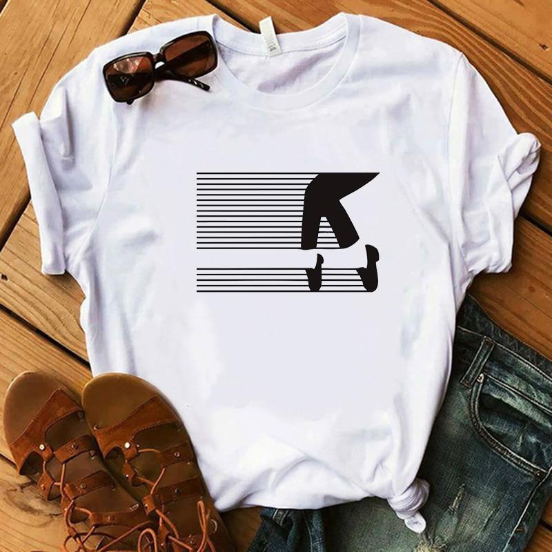 Fashion Ladies Michael Jackson Moonwalker T Shirt King Of Pop Music Graphic Art DarinaIrina Handmade Print White Women Tshirt