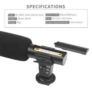 Image 4 - Ateş 3.5mm Stereo kamera mikrofon VLOG fotoğrafçılık röportaj dijital Video kayıt mikrofonu Nikon Canon DSLR kamera için