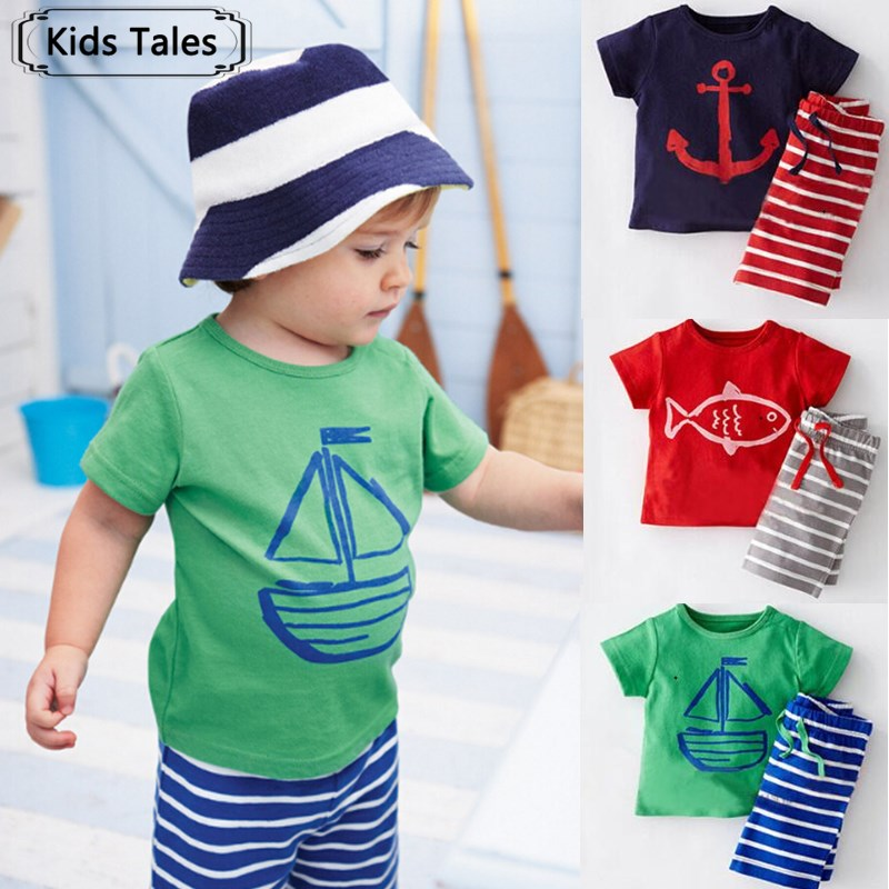 ST144 2017 Boys clothing set children sport suits children's clothing sets for kids totton clothes set boy T-shirt+ short pant