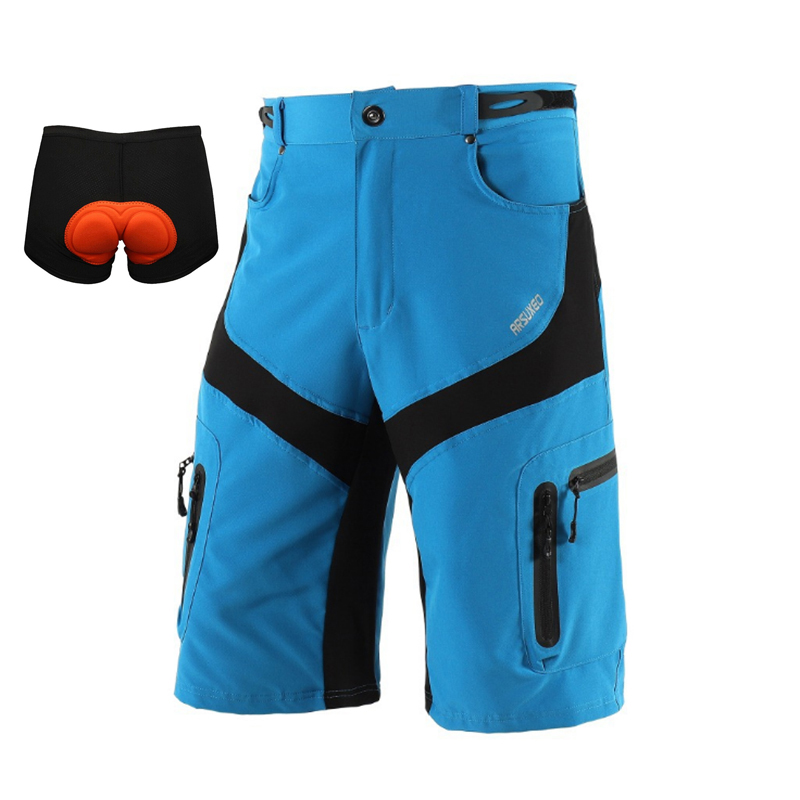 Durable MTB Downhill Shorts Men Mountain Bike Bicycle Cycling Shorts Half Trousers Cycling Clothing Size M/L/XL/XXL