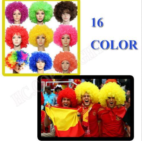 Parrucca CLOWN ADULTO GIALLO-CIRCUS-Afro-PARTY Costume Accessorio-CARNEVALE