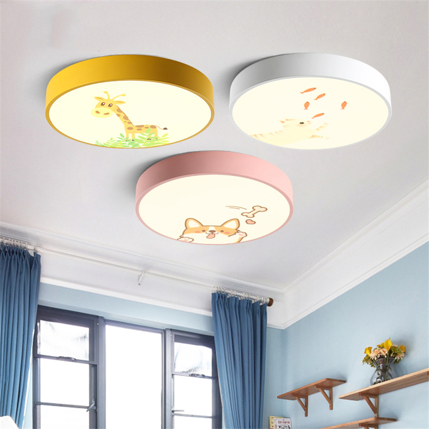 Modern LED Animal Ceiling Lamps Children Bedroom Living Room Lighting Deco Ceiling Lights Kindergarten Study Luminaria Fixtures modern led ceiling lights colorful cloud ceiling lamps for living room kitchen luminaria kids children bedroom light fixtures
