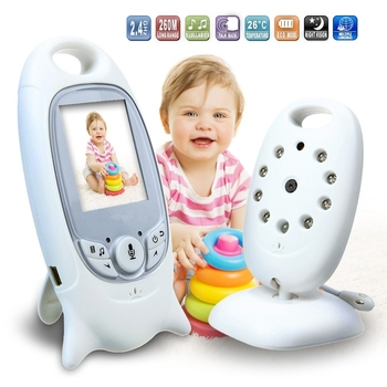"(1 Set) 2.0"" Inch LCD Screen Wireless BABY Oldman Monitor IR night version 2 way voice intercom with temperature function"