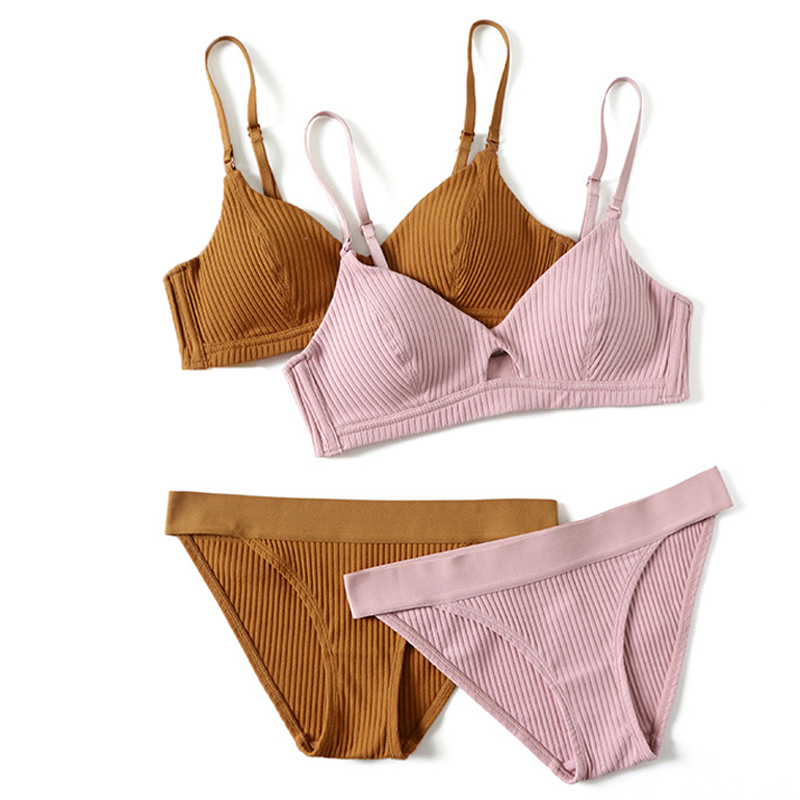 CINOON 2018 High-end Brand Romantic Temptation   Bra     Set   Women Fashion Stripes Underwear   Set   Push Up   Bra   and Panties   Set