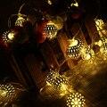 Envío gratis 3 M 30 led de batería AA hierro luces de hadas cadena fiesta de la boda decoración del hogar bombilla de la lámpara