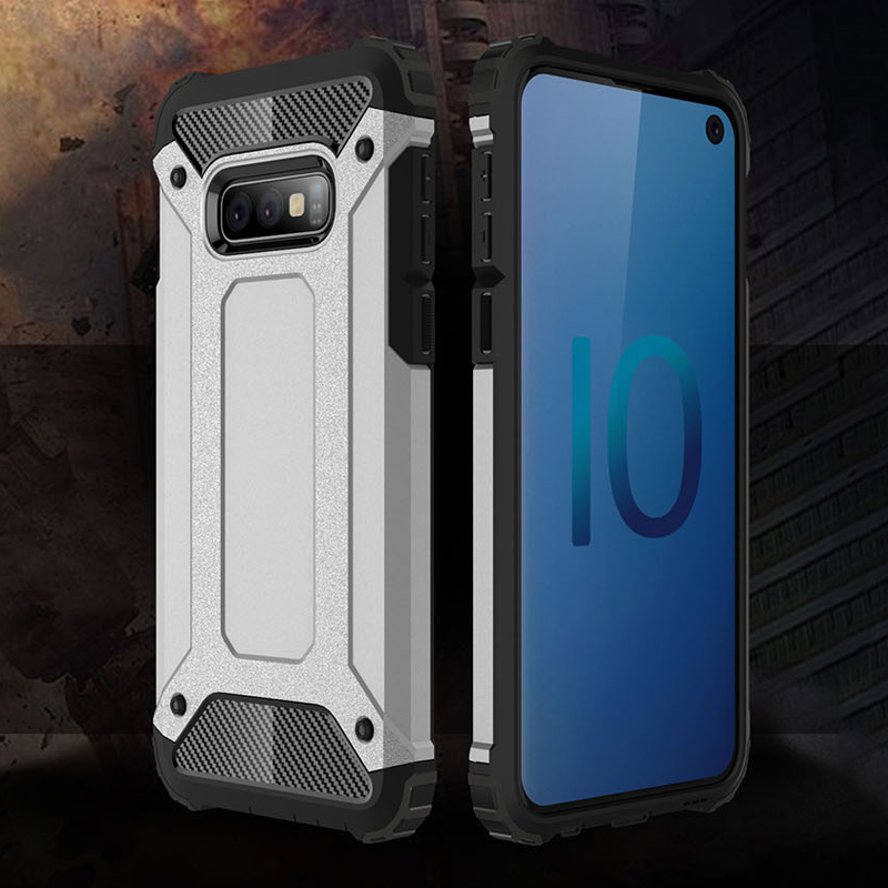 PC+TPU Hybird Protective Case For Samsung Galaxy S10 Lite G9700 within Heat Radiation Nets Precise Holes Outdoor Shockproof Case image