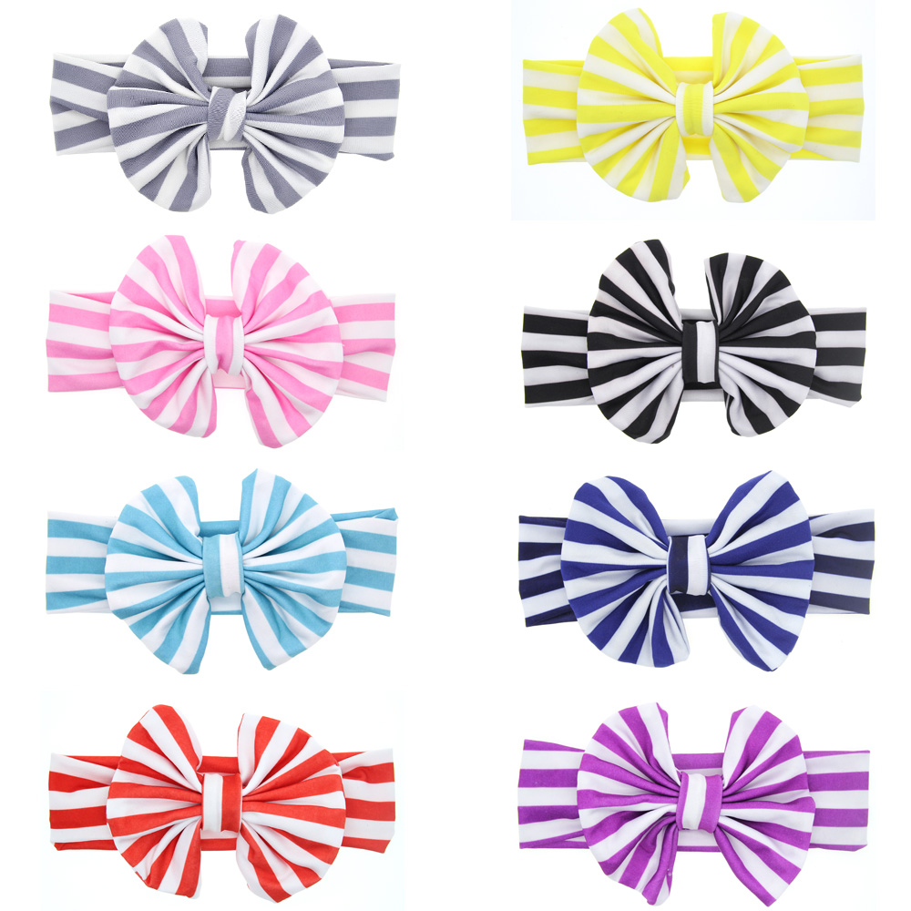 $0.56 , WO-striped bow headband-KT016