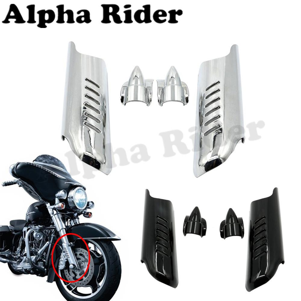 ФОТО Front Lower Fork Leg Cover Guard Frame Shield Protector for Harley Touring Street Glide FLHX 2006-2013 Road King FLHR 2000-2013