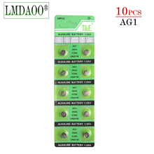 Free shipping 10PCS Watch Battery AG1 1.55V 364 SR621SW LR621 621 LR60 CX60 Alkaline Button Coin Cell Batteries