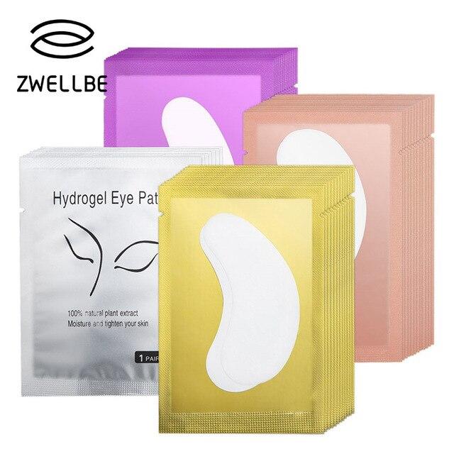 Zwellbe 10/20/50 זוגות רטיות להארכת ריסים נייר תיקוני 4 צבע מורכב תחת רפידות העין טיפים מדבקות איפור כלים