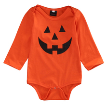 2016 New Arrival Halloween Newborn Clothing Baby Boys Girls Romper Jumpsuit Long Sleeve Clothes Outfits US