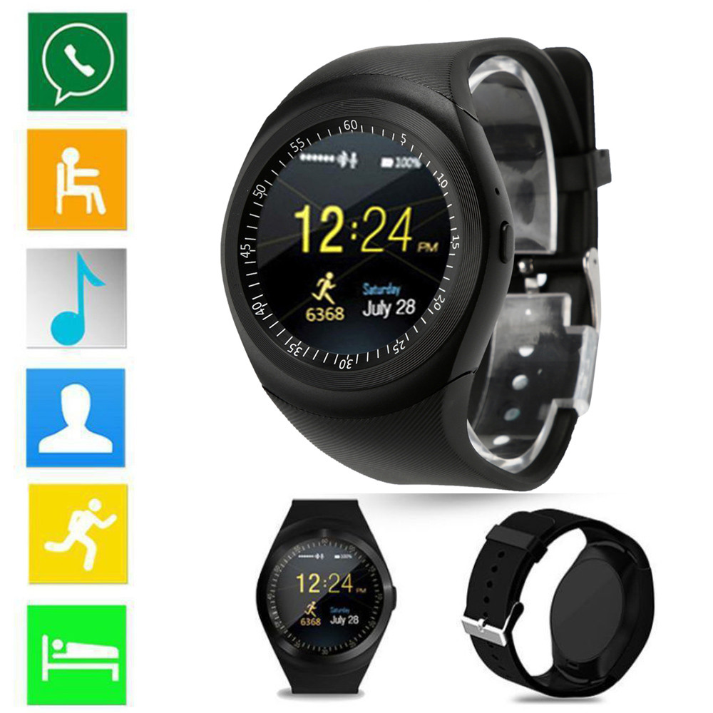 Bluetooth Smart Watch Support Nano SIM Card and TF Card Smartwatch PK GT08 U8 Wearable Smart Electronics Stock For iOS Android цена и фото