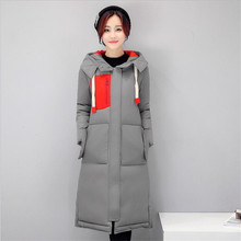 2016 Winter New Women's Clothing Han Edition  Long Cotton-padded Bigger Sizes With Thick  Cultivate One's Morality  Jacket Coat