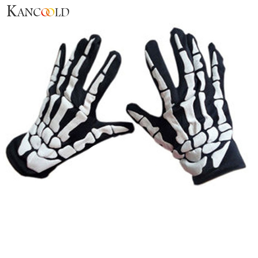 KANCOOLD Gloves Halloween Horror Skull Claw Bone Skeleton Goth Racing Full Gloves High Quality Fashion Gloves Women 2018NOV23