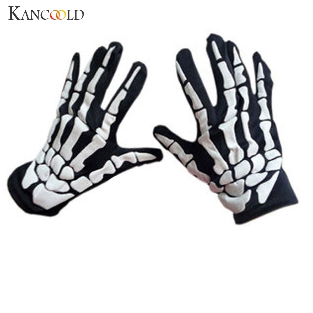 KANCOOLD Gloves Halloween Horror Skull Claw Bone Skeleton Goth Racing Full Gloves High Quality Fashion Gloves Women 2018NOV23