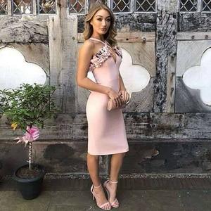 Image 3 - Adyce 2020 nuevo verano mujer rosa Floral vendaje vestido Vestidos de fiesta, de noche, de celebridad volantes Spaghetti Strap Club Dress