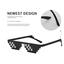 Fantasy Mosaic Glasses Women Men Black Sunglasses Funny Pixel Deal With