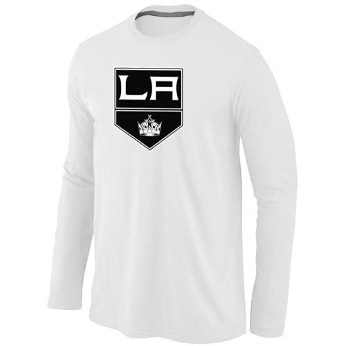 NHL Los Angeles Kings Big & Tall Logo WHITE Long Sleeve T-Shirt
