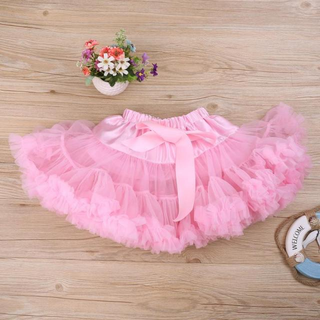 e6995a452 Baby Girls Tutu Skirt Fluffy Children Ballet Pettiskirt Kids Girl Princess  Tulle Party Dance Clothes