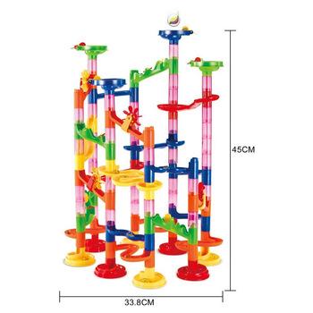 Marble Race Run Maze Duplo klocki do budowy piłki DIY Toy Track Set plastikowy lejek slajdów montaż cegieł kompatybilny Legoingly tanie i dobre opinie 2107264 Z tworzywa sztucznego 8 ~ 13 Lat Urodzenia ~ 24 Miesięcy 2-4 lat 5-7 lat 14Y Transport Blocks 3 Years+ As the picture