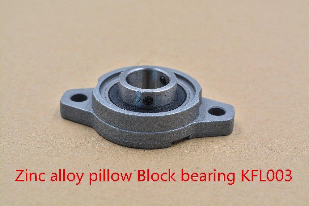 1Pcs 17mm KFL003 FL003 Pillow Block Bearing Flange Block Bearing