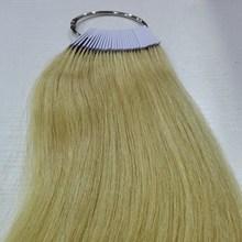 8 дюймов человеческие волосы Цвет кольцо для салона волос цвет диаграммы натуральный блонд цветной адаптер