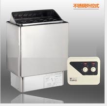 Банная плита из нержавеющей стали, 3 кВт, 4,5 кВт, 6 кВт, 9 кВт, 220 в 380 в, зеркальное покрытие, превосходный обогреватель для сауны с контроллером для сауны