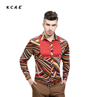 Men Shirt Vintage Hot-selling Men's Fashion Dots Splicing Shirt Male Casual Long-sleeved Shirt High Quality
