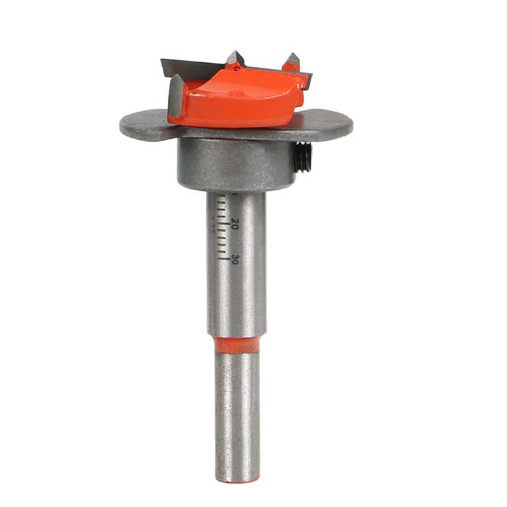 Cemented Carbide 35mm Hole Saw Woodworking Core Drill Bit Hinge Cutter Boring Bit Tipped Drilling Tool