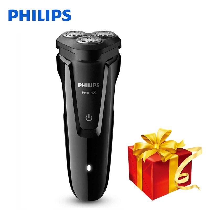 100% D'origine Philips Rasoir Électrique S1010 Rotatif Rechargeable Lavable Pour Les Hommes de Rasoir Électrique Support De Charge Indicateur