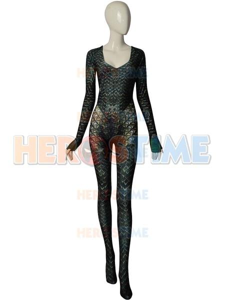 Quinn Mera Cosplay Costume High Quality 3D Print Queen Mera Justice League Costumes Zentai Catsuit Aquaman
