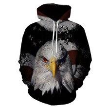 2019 new Hoodies man 3D Eagle printed Fashion Mens Hooded Sweatshirt Autumn Pullover hoodies tops Steetwear
