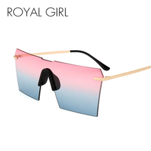 ROYAL GIRL Cool Luxury Brand Oversize Sunglasses Women Sexy