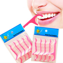 25 Pcs/Dental Floss Interdental Brush Teeth Stick Tusuk Gigi Gigi Benang Floss Gigi Plastik Pilihan(China)