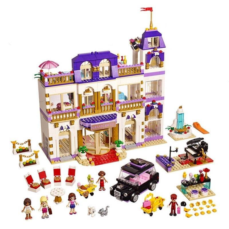 1585pcs Diy Compatible With Legoingly Friends sets Heartlake Grand Hotel Building Blocks Bricks Toys For Children Brithday gifts 1676pcs friends heartlake grand hotel building blocks bricks girls toys compatible with legoingly 41101 for children gifts